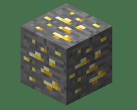 Золотая руда в майнкрафте