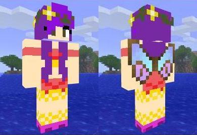 Скин феи с фиолетовыми волосами