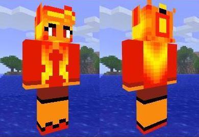 Скин огненно-рыжей красотки