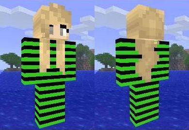 Скин зелено-полосатой блондинки