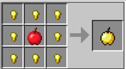 как сделать золотое яблоко в майнкрафт